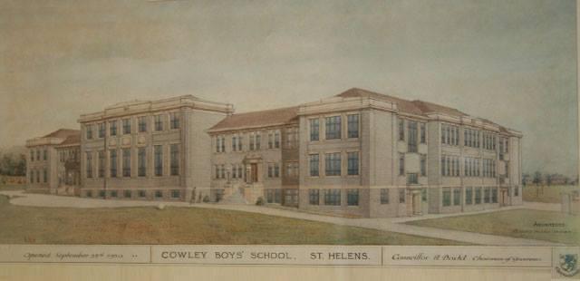 Cowley Boys School, postcard